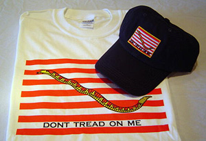 Navy Jack Dont Tread Shirt & Cap
